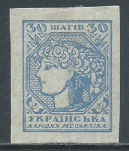 Ukraine, Sc #3, 30sh MH