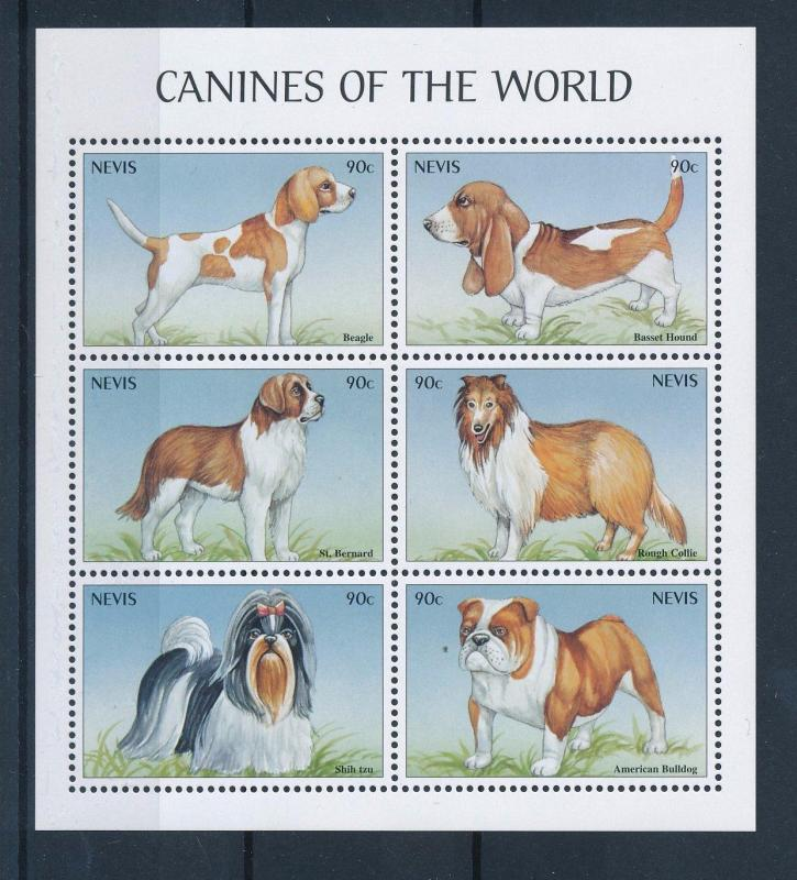 [35303] Nevis 2000 Animals Dogs Canines MNH Sheet
