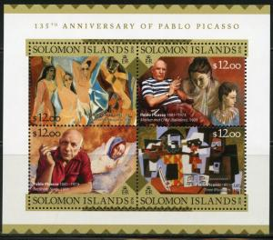 SOLOMON ISLANDS  2016 135th BIRTH  ANNIVERSARY OF PABLO PICASSO SHEET  MINT NH