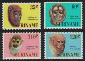 Suriname Monkeys 4v SG#1299-1302