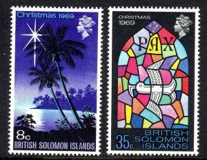 BR SOLOMON IS...1969.. Christmas  set     mnh um