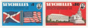 Seychelles, Sc 356-357, MNH, 1976, Friendship with USA
