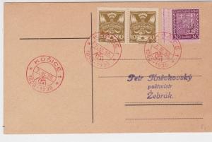 Czechoslovakia 1930 Souvenir Stamps Kosice Cancels Card Ref 23869