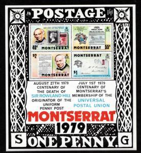 Montserrat 409a Mint NH MNH Souvenir Sheet UPU Rowland Hill!