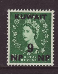 1957 Kuwait 9np Opt On GB 1½d Mint