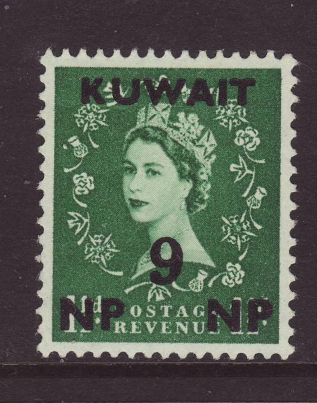 1957 Kuwait 9np Opt On GB 1½d Mint