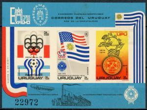 Uruguay #C418a Exfilmo75 & Espamer '75 Souvenir sheet MNH