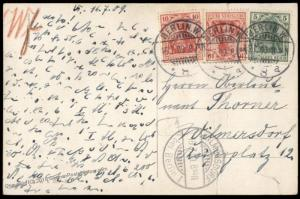 Germany1909 Berlin Rohrpost Germania Pneumatic Mail Cover 82581