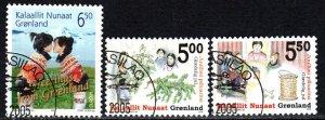 Greenland #438-40  F-VF Used CV $6.75  (X5629)