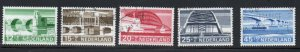 Netherlands Sc B434-38 1968 Bridges stamp set used