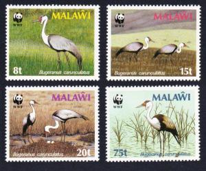 Malawi Birds WWF Wattled Crane 4v SG#759-762 MI#477X-0X SC#494-497