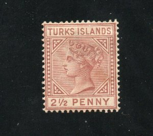 Turks Islands - SG# 56 MH / wmk crown CA/ Die I  -  Lot 0420046