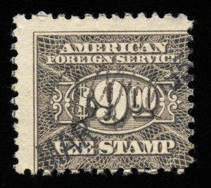 01807 U.S. Revenue Scott RK38 $9 Foreign Consular Service, perf. 11, SCV = $35
