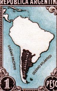 Argentina 1945-47 Map of South America (1) MNH Sc#536