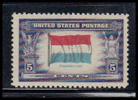 912 5c Flag of Luxembourg Fine MNH W3811