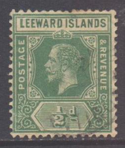 Leeward Is Scott 47 - SG47a, 1912 Crown CA 1/2d used