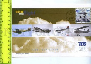 242114 ISLE of MAN 100 years of FLIGHT PLANES 2003 year FDC