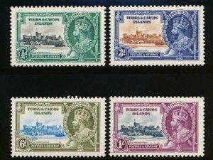 TURKS & CAICOS 71-74 MINT LH 1935 SILVER JUBILEE KGV