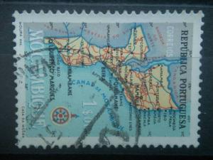 MOZAMBIQUE, 1954, used 1e, Map Scott 390