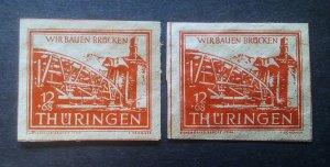 Germany Thuringen mi 113 a+b **