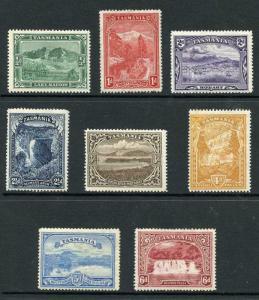 Tasmania SG229/36 1899 Set of 8 wmk TAS (Mult) M/Mint (4d and 5d tone spot)