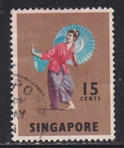 Singapore # 89, Dancers, Used