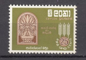J27845 1963 ceylon hv of set mnh #367 FAO wheat