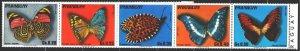 Paraguay. 1976. 2794-2801. Butterflies. MNH.