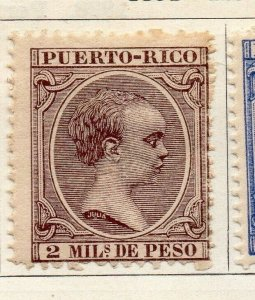 Porto Rico 1891 Early Issue Fine Mint Hinged 2m. 125329