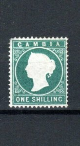 Gambia 1880-81 1s green wmk upright MH