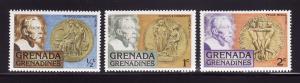 Grenada Grenadines 256-258 MNH Alfred Nobel