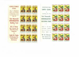 7 1948-50 EAST BRUNSWICK KINDERGARDEN XMAS SOUVENIR SHEETS OF 12 STAMPS (L667)