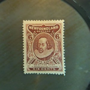 Newfoundland 98  1910 6c  unused NG   VF