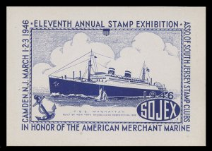 SOJEX 1946 (11th) Stamp Show - MINT, Never Hinged, F-VF or Better