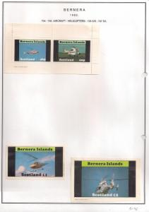 SCOTLAND - BERNERA - 1982 - Helicopters - 2v Perf, Min, D/L Sheets - MLH