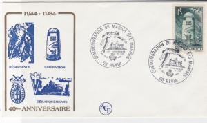 France WW2 Liberation 40th Ann. War 08 Revin Slogan Cancel Stamps Cover R 19229