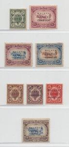 Malaya Kedah - 1922 - SG 41-48 - MH