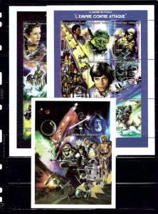 Togo 1849 51 MNH 1997 Star Wars Movies 2 sheets and S/S