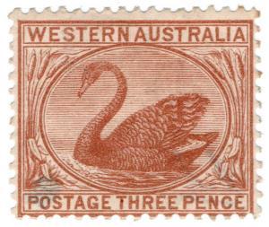 (I.B) Australia Postal : Western Australia 3d (SG 63)