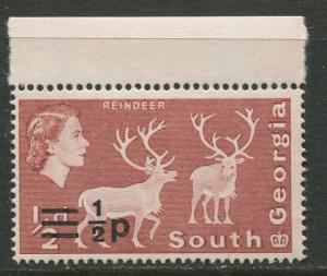 South Georgia - Scott 17 -  Overprint -1971- MVLH - Single 1/2p on a 1/2d Stamp