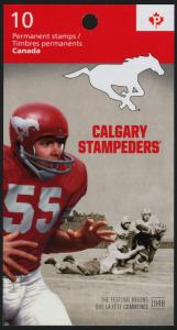 Canada 2571a Booklet MNH CFL, Calgary Stampeders Football, Sports