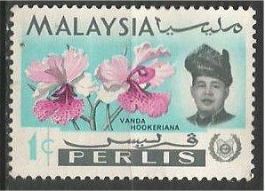 PERLIS, 1965, MH 1c, Orchid  Scott 40