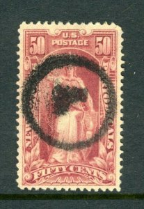 #PR119  50c Newspaper Stamp - USED Circle L Cancel  cv$75.oo