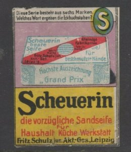 Germany- Scheuerin Soap Advertising Vignette Stamps, 1 of 6, NG
