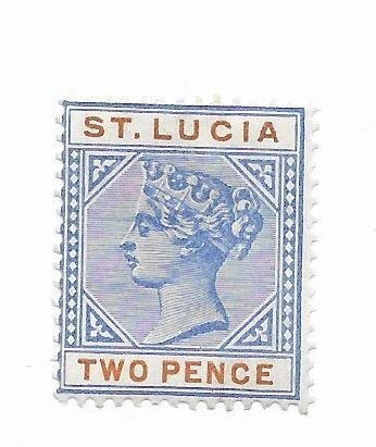St. Lucia #30 MH - Stamp - CAT VALUE $6.00