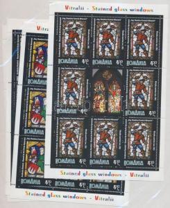 Romania stamp Stained glass windows mini sheet set MNH 2011 Mi 6546-6549WS189998