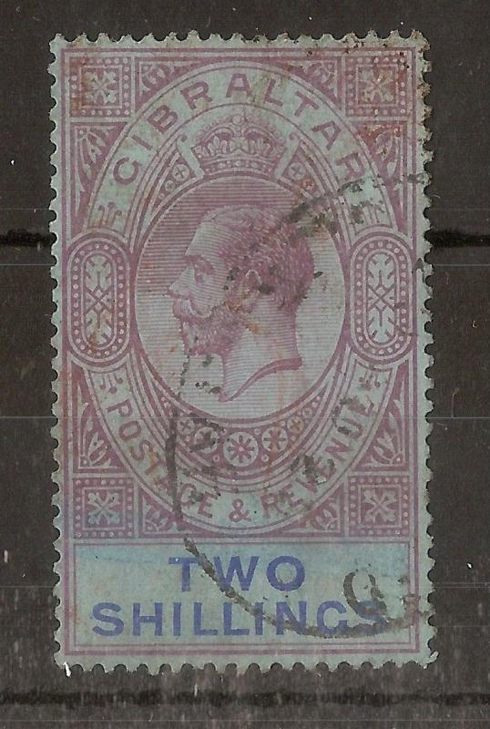 Gibraltar 1921 2/- SG99A Used Cat£45