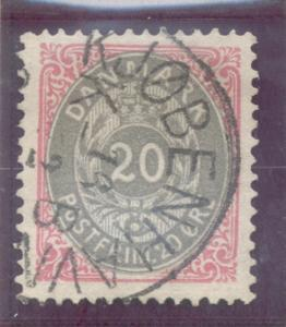 Denmark Sc 31 1875 20 ore stamp used