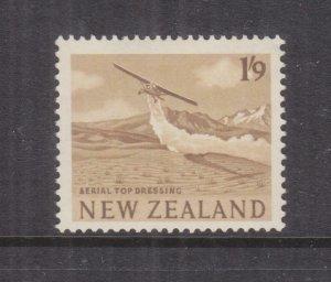 NEW ZEALAND, 1960 Crop Dusting, 1s.9 Bistre Brown, mnh.
