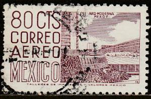 MEXICO C472, 80c 1950 Defin 9th Issue Unwmkd Fosfo Coated. USED. F-VF. (1455)
